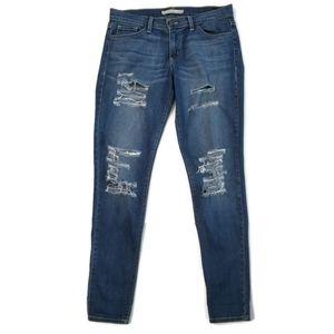 Flying Monkey Distressed Skinny Jeans
